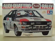 TAMIYA - AUDI QUATTRO RALLY RACE CAR / FIGURES - MODEL KIT (OPENED)