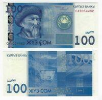 KYRGYZSTAN 100 Som (2009) P-26a UNC Banknote Paper Money