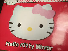 NEW Boxed * HELLO KITTY HEAD SHAPE CHILDREN'S ACRYLIC SELF ADHESIVE MIRROR *