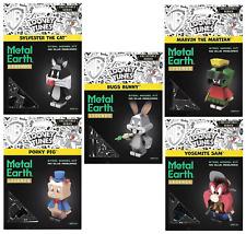Set of 5 Fascinations Metal Earth Legends WB Looney Tunes 3D Laser Cut Model Kit