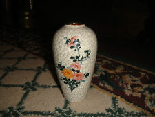 Superb Chinese Celadon Miniature Crackle Vase-Flower Design-Small Vase-Asian