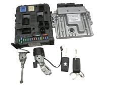 Kit Engine control unit ECU BSI Ignition lock Key for Peugeot 407 SW 6E 08-11