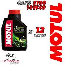 12 LITRI OLIO MOTUL 5100 10W40 MOTO SCOOTER TECHNOSYNTHESE ESTER MA2 TAGLIANDO