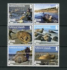 Falkland Islands 2015 MNH ESRG Elephant Seal Research Group 6v Set Se-tenant