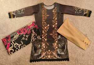 Brand New marina pkistani Indian Salwar Kameez Ladies Stitched suit 3 piece Gift
