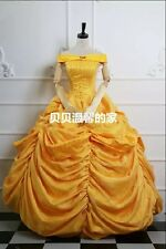 Movie Beauty and the Beast Belle Princess Evening Dress Cosplay Costume EXPRESS