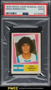1978 Crack Campeonato Mundial Diego Maradona ROOKIE RC PSA 2 GD