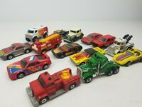 Vintage 1970's 1980's Matchbox Lesney Toy Cars Trucks Buses Lot of 14