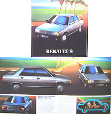 RENAULT 9 TSE GTS ILE GTL TL February 1982 ORIGINAL UK sales brochure