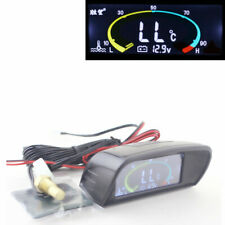 2 in 1 Car Auto Volt Meter + Water Temp Gauge LCD Digital Display + Sensor
