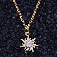 Chain Necklace Crystal Pendant Sun Flower Jewelry Pendants Collares Necklaces