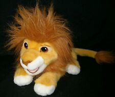 "11"" VINTAGE 1993 MATTEL THE LION KING MOVIE ROARING SIMBA STUFFED ANIMAL PLUSH"