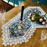 Floral Lace Trim Table Runner Tablecloth Furniture Cover Baroque Home Decor Chic