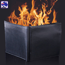 Flaming Magic Trick Fire Wallet Stage Show Purse PU Leather Gifts GSPW59901
