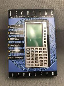 Jeppesen Techstart Electronic Flight Computer Calculator in Box, Manual & Case