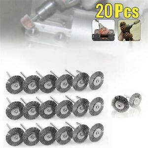 20Pcs Wire Wheel Brushes Parts For Drill Grinder Polishing Brush Power Tool 40mm