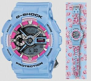 Casio G-Shock *GMAS110F-2A S Series Watch Tribal Rose Blue Watch COD PayPal