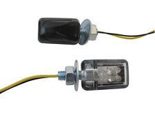 Negro Mini e-marked indicadores Led Para Bmw Boxer Airhead Cafe Racer proyecto Bicicleta