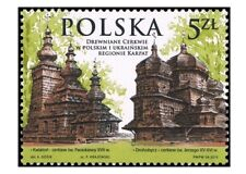 POLEN 2015 Stamp Wooden Tserkvas of the Carpathian Region in Poland and Ukraine:
