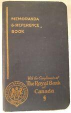 "RARE  CANADIAN 1932-1933 ED.  ""ROYAL BANK OF CANADA"" MEMO &  REFERENCE BOOK"