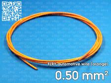 Automotive wire FLRY 0.5mm², orange color, 1 meter length