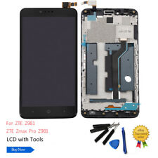 US For ZTE ZMAX Pro Z981 LCD Touch Digitizer Screen Assembly Frame +Tools