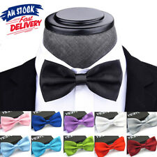 Mens Bow Tie Bowtie Pretied Red Wedding Party Boy Formal Necktie Tuxedo Black