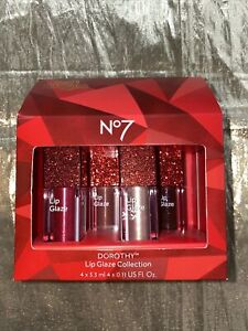 Limited Edition No 7 Wizard of Oz Dorothy Lip Glaze Collection 4 X 3.3ml