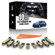 10x For Toyota CHR C-HR 2018-2020 NO ERROR Car Indoor Interior LED Lighting Kit