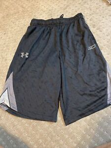 Boys Under Armour SC Steph Curry Shorts - Youth Large  - Gray