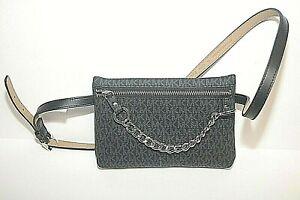 Michael Kors Fanny Pack Belt Bag Signature Logo Black Sz S Adjustable Belt