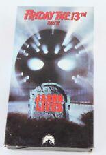 Friday The 13th Part VI 6 Jason Lives Jason Voorhees Horror Slasher VHS