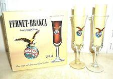 6 Fernet Branca Fratelli Milan Italian Shot Glasses in Box