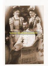 "mm161 -  Czar Nicholas II Romanov & Alexandra & her sister Ella - photo 6x4"""