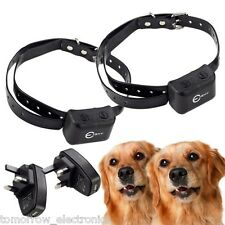 2PCS Waterproof Rechargeable MEDIUM LARGE ANTI BARK NO BARKING DOG SHOCK COLLAR