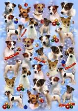 Parson/Jack Russell Terrier Dog Christmas Wrapping Paper By Starprint