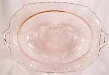 Vintage Mayfair Open Rose Vegetable Bowl Pink Depression Glass Hocking AS IS