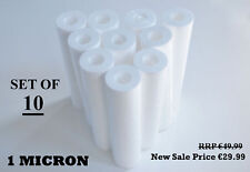 "10"" SEDIMENT PARTICLE WATER FILTERS 1 MICRON PACK OF 10 REDUCE LIMESCALE"