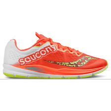 NIB WOMENS SAUCONY FASTSWITCH 8 CORAL/CITRON S19032-1 RUNNING SHOES SZ 10M J559