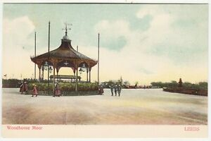 LEEDS Woodhouse Moor Bandstand - Woodbury Series - c1900s era Yorkshire postcard