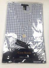 Club Room Blue Cotton Blend Short Sleeve Knee Length Flannel Pajama Set Medium