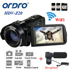 "Ordro Z20 3.0"" 16× Zoom Full HD 1080p Digital Video Camera Camcorder 24mp HDMI"
