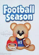 CraftEcafe Paper Piecr Scrapbook Die Cut Kit Football Season Sports BLJgraves 43
