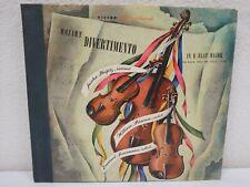 "MOZART Divertimento in E Flat Major 12""/78 rpm 4-Disc Book-Set Heifetz/Primrose"