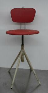 Alter Werkstattstuhl Arbeitsplatz Stuhl Industrie Design  ~1960er
