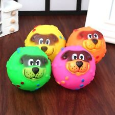 Latex Face Ball Squeaker Squeaky Chew Fetch Play Toy For Bright Small Dog Puppy
