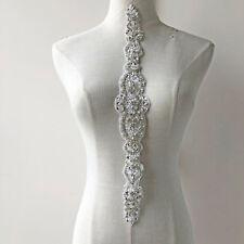 91ebd5421 Perlas Pedrería Vestido de Novia Aplique Boda Bricolaje Ribete con Cuentas