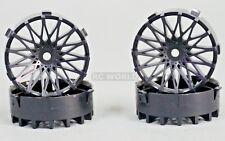 Tetsujin DAHLIA Mesh RC Car 1/10 Wheels BLACK Adjustable Offset 3-6-9mm -4 RIMS