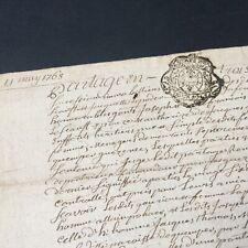 Acte Notarié 1768 Marque Généralité De Bretagne