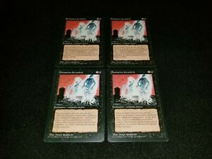 MTG 4x Revised black uncommon LP French FBB - ships w/ tracking